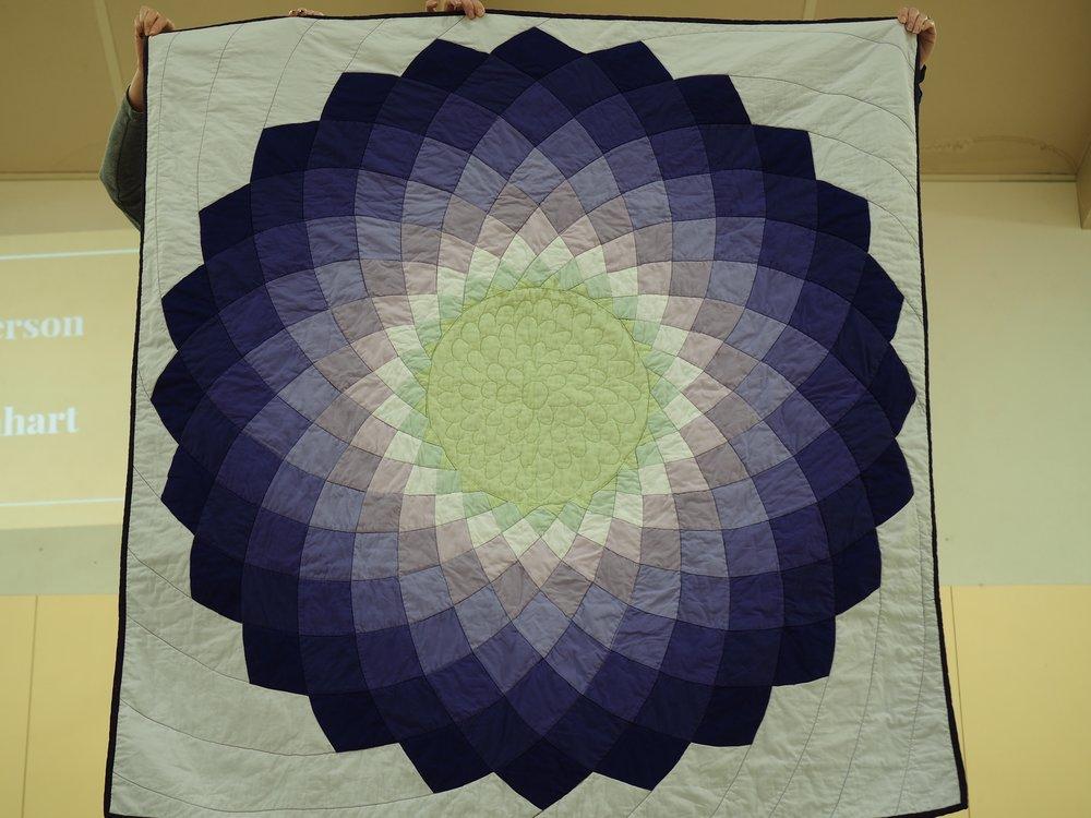 Purple Dahlia Quilt by Jennifer Ballard