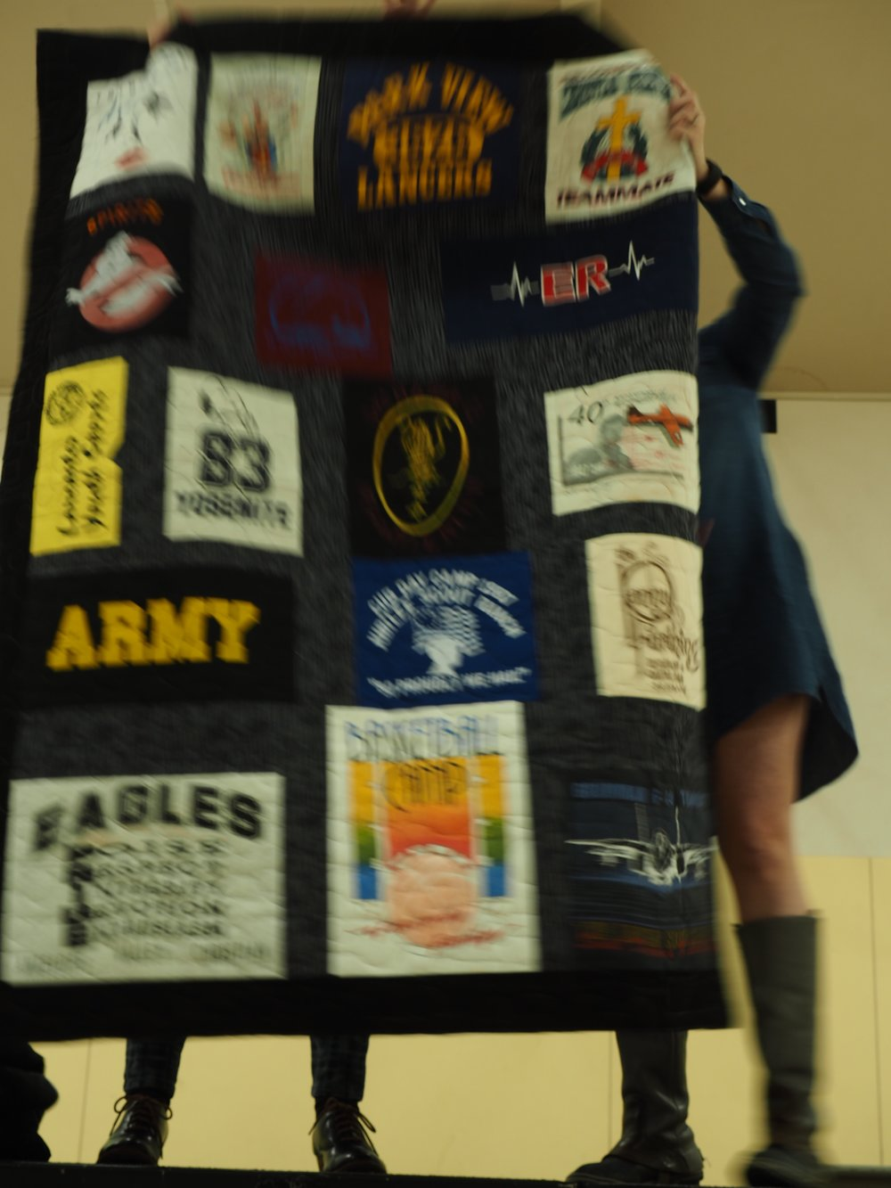 T-Shirt Quilt by Elisa Corcoran
