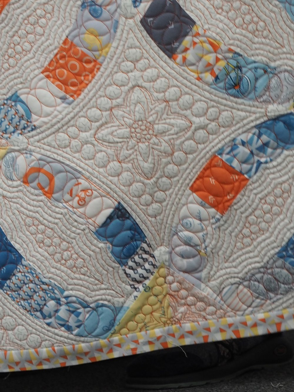 Detail of Erin & Ben's Wedding Quilt