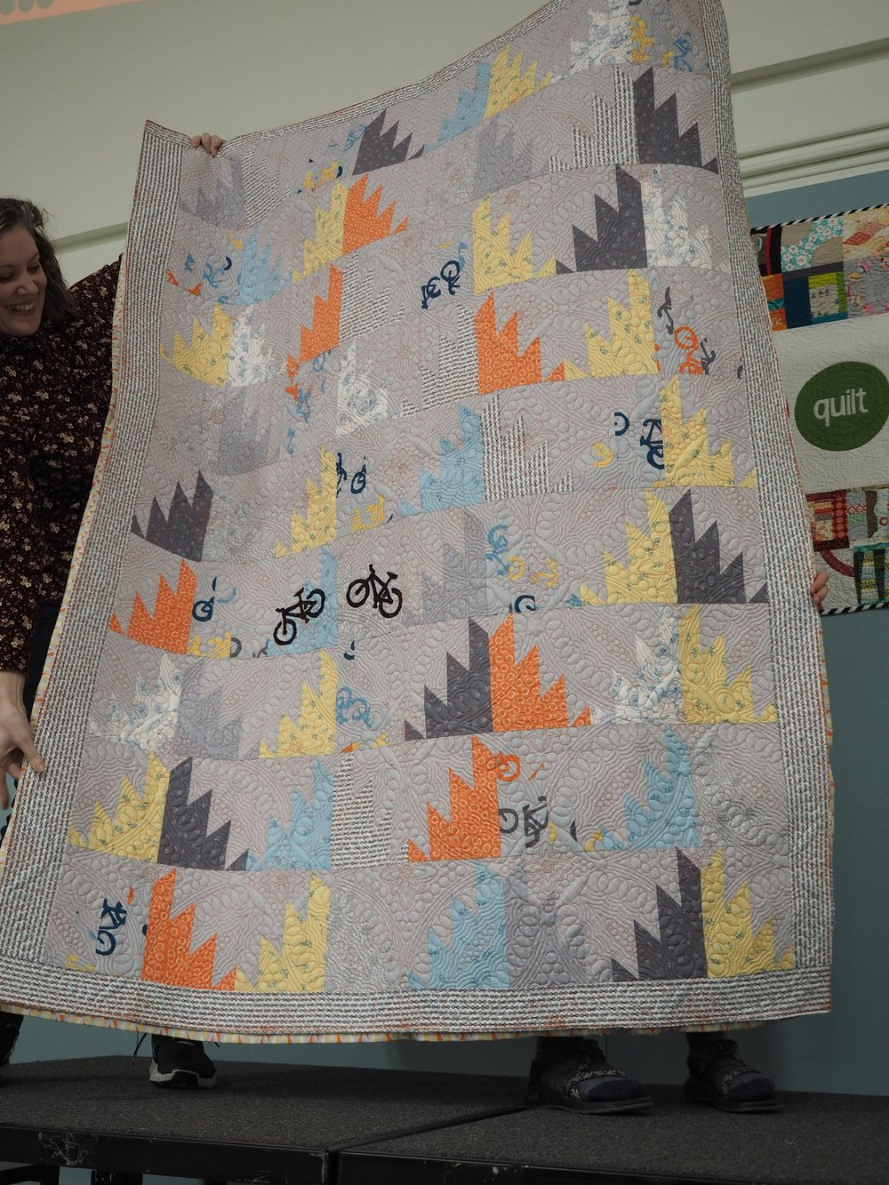Reverse of Erin and Ben's Wedding Quilt
