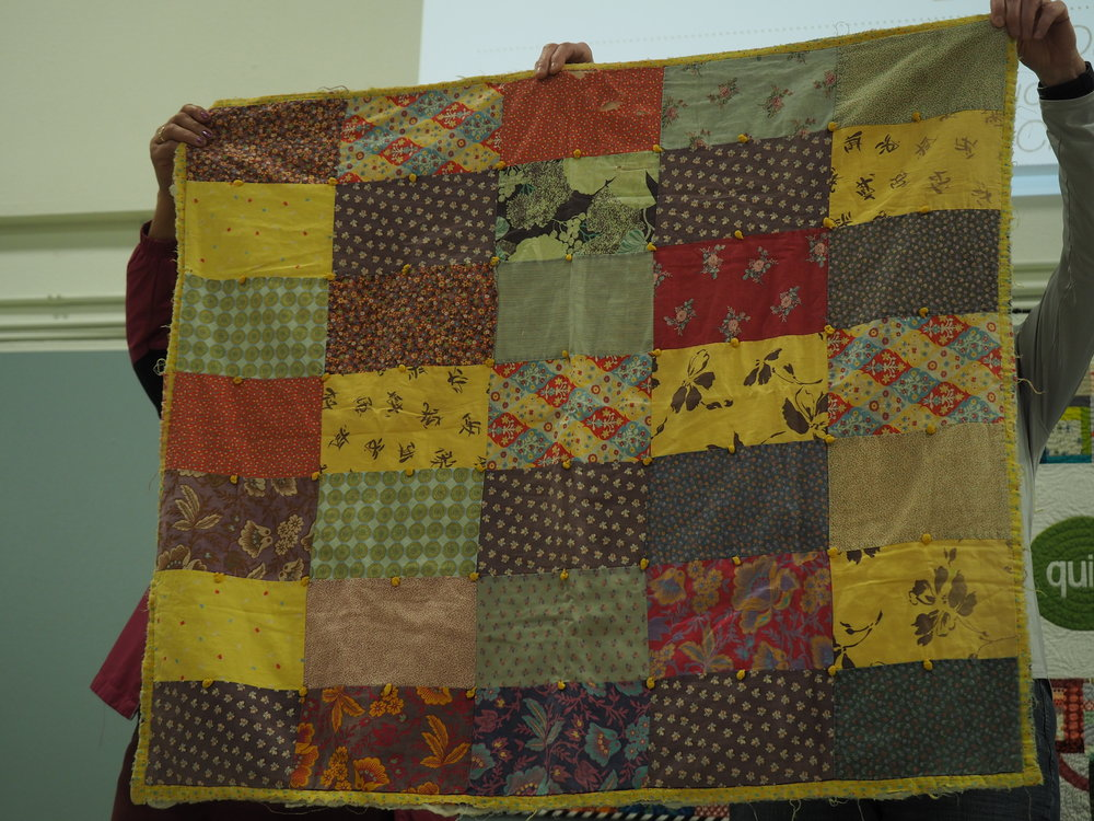 Baby Charity Quilt from 27 years ago, presented by Gail Weiss