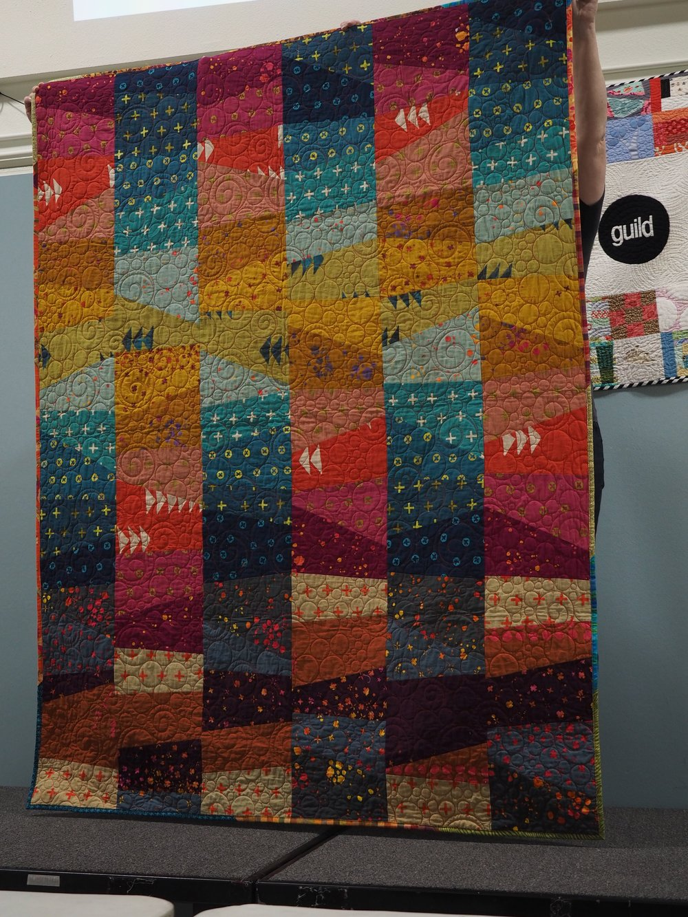 Quilt featuring Alison Glass fabrics by Nancy Raymond