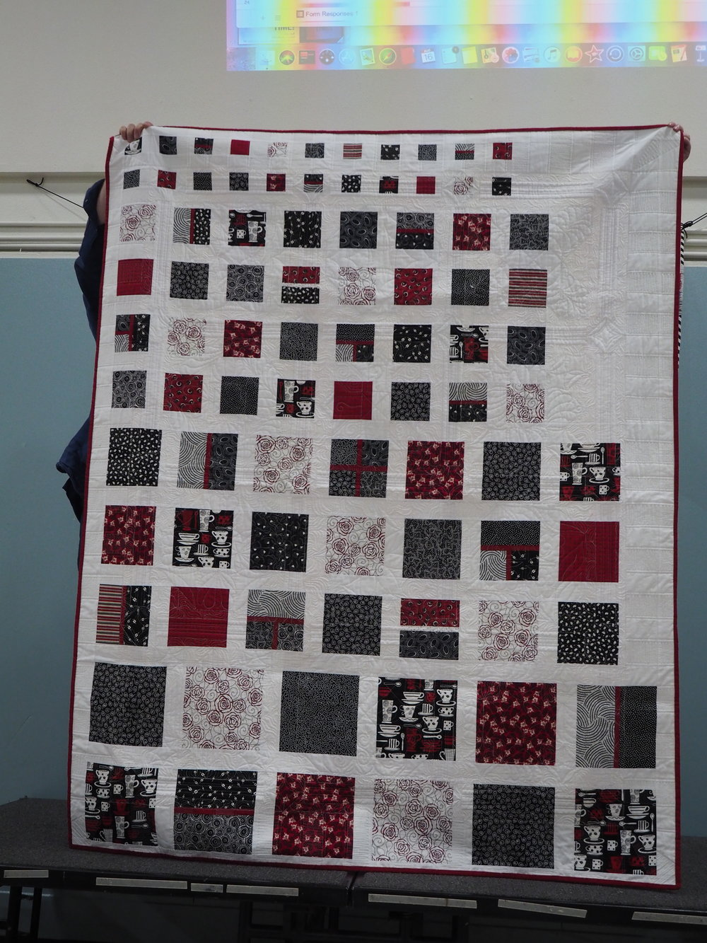 Reverse of the House Quilt by Susan Dottarar