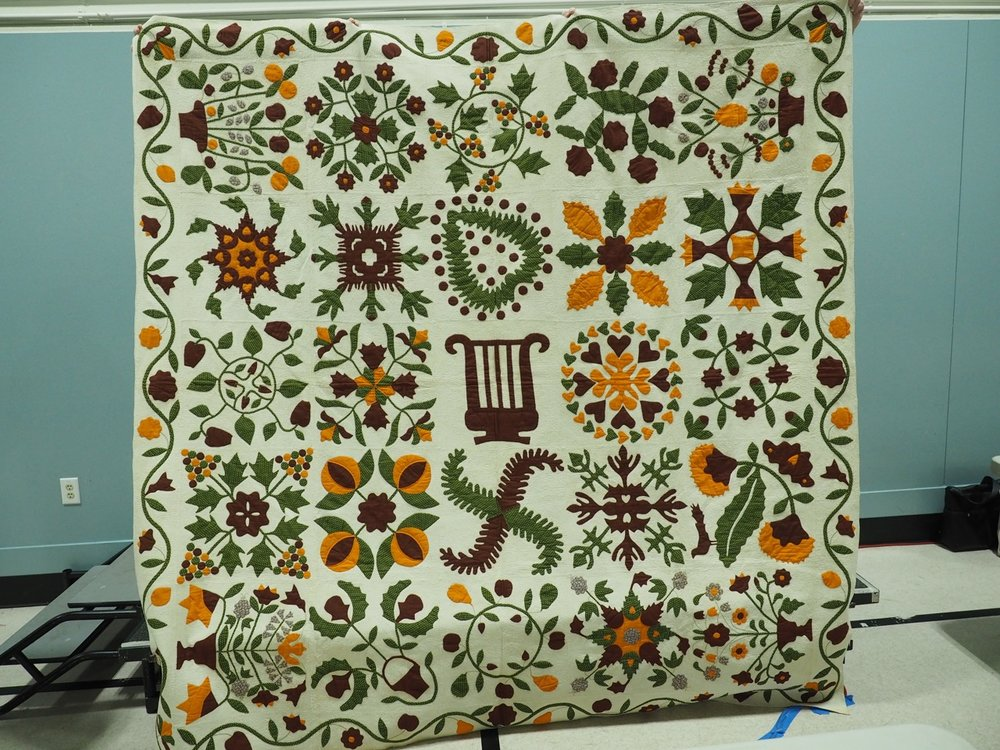 1850s Album Quilt presented by Bill Volckening