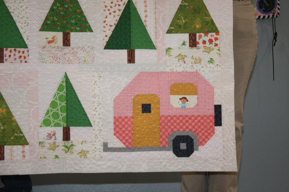 Detail of Up North Quilt by Robin Hashimoto