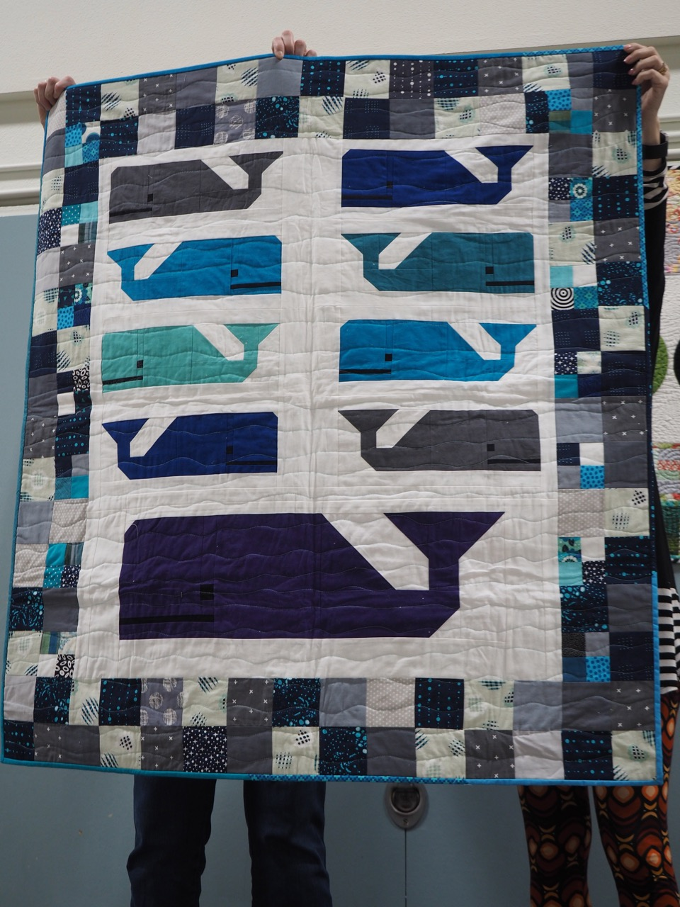 Whale Quilt for Jess by Marika ZImmerly-Beck