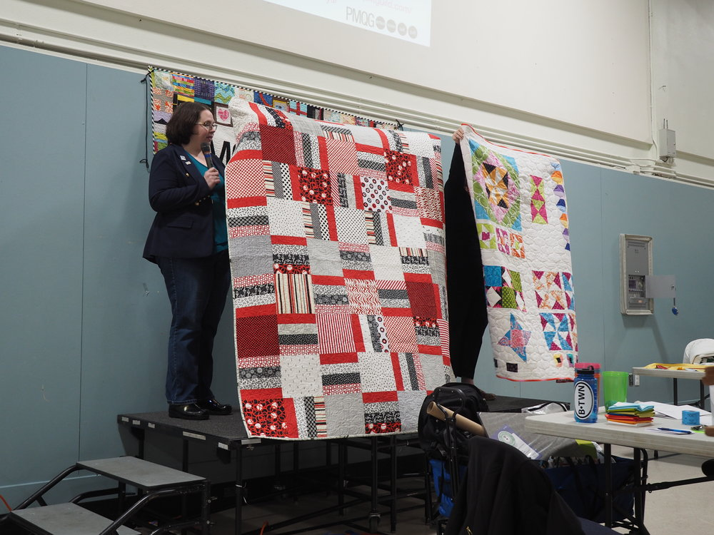Charity Quilts made by PMQG Members