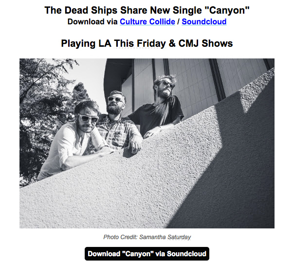 The Dead Ships press release