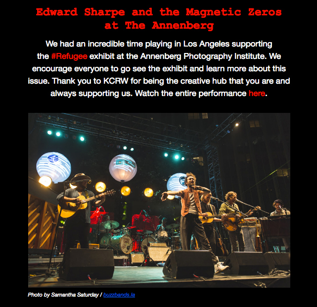 Edward Sharpe and the Magnetic Zeros press release