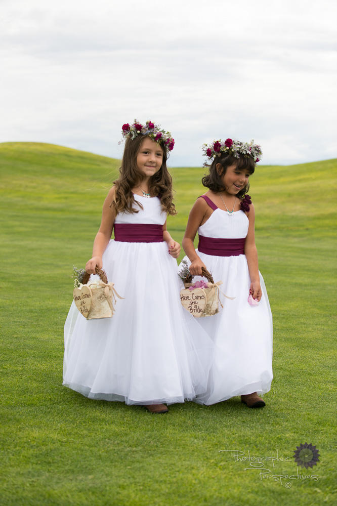complete wedding, camo wedding, outdoor wedding, flower girls, f
