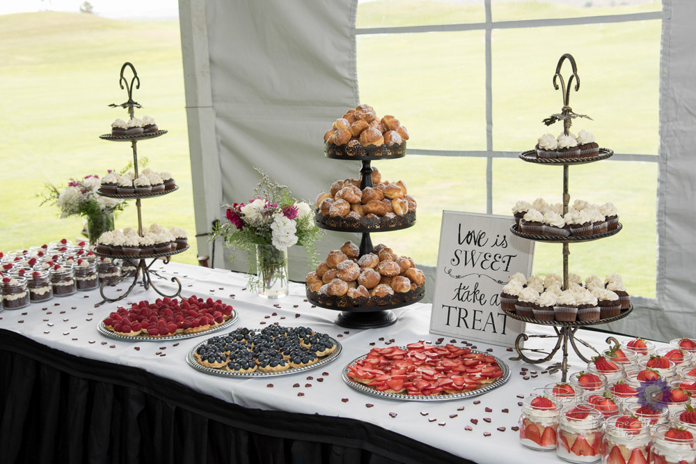 complete wedding, camo wedding, outdoor wedding, tent reception,