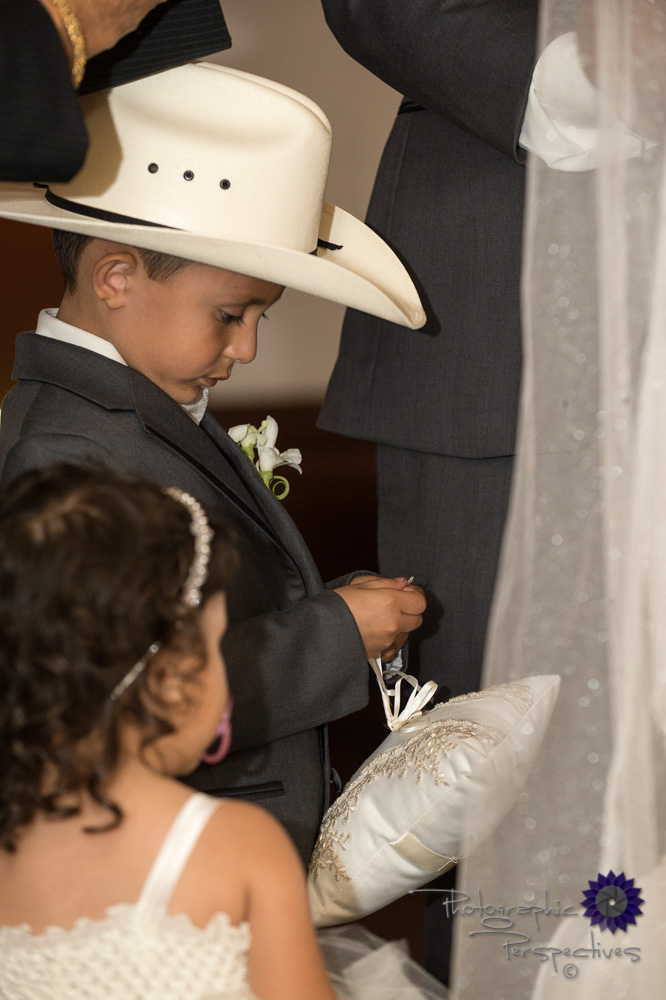 ring bearer, cowboy wedding, orchid corsage