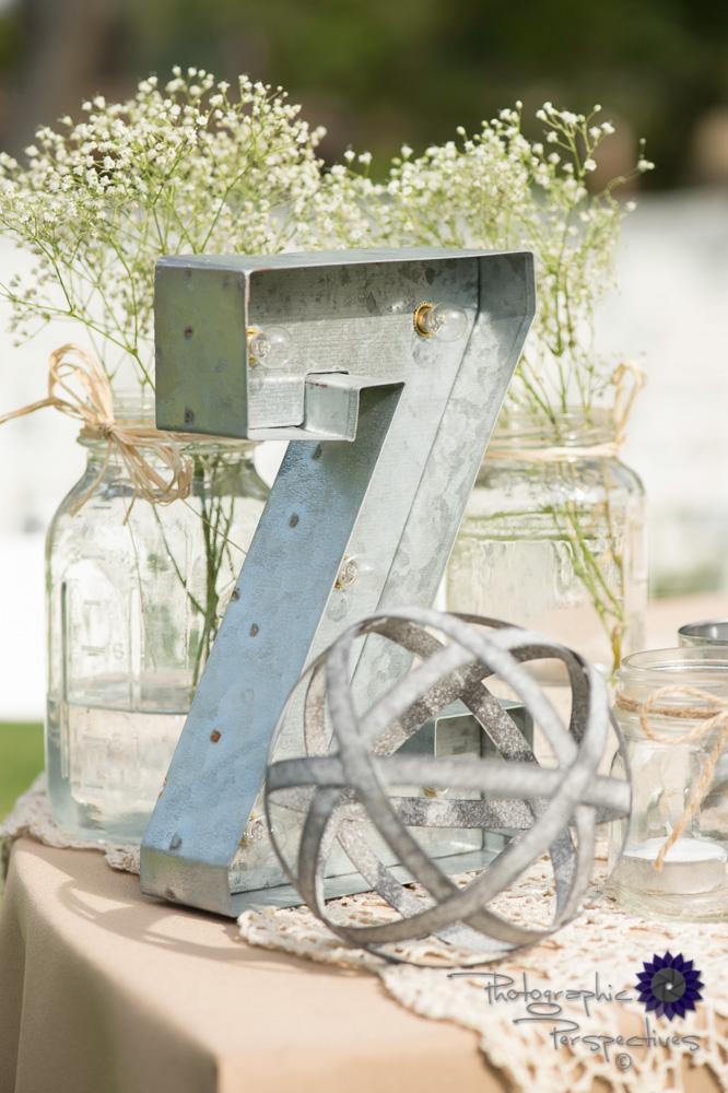 babies breathe, number 7, eclectic wedding, mason jars,outdoor w