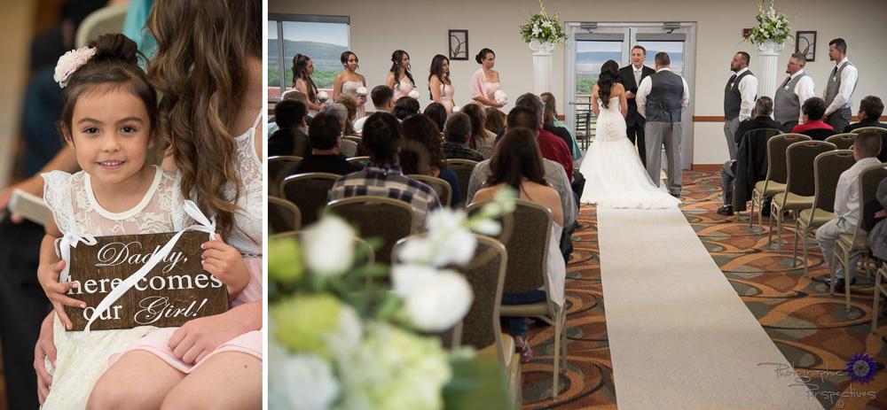 Isleta Resort and Casino Wedding | Albuquerque Wedding Photographers | Photographic Perspectives | Wedding Ceremony | Flower Girl