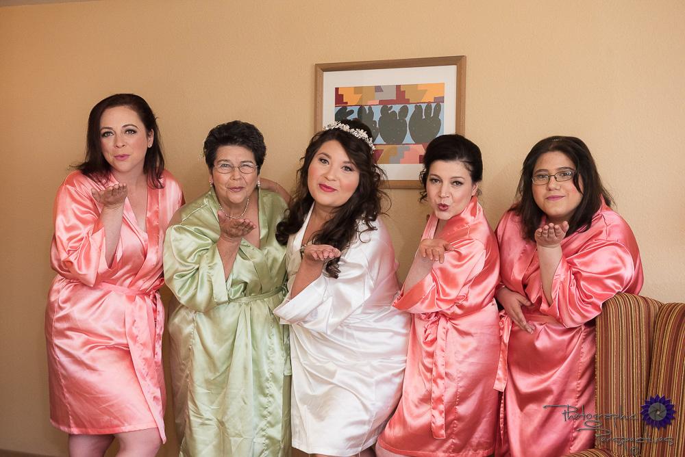 Hotel Albuquerque Wedding | Bridal Prep | Colorful Robes | New Mexico Bride | Photographic Perspectives