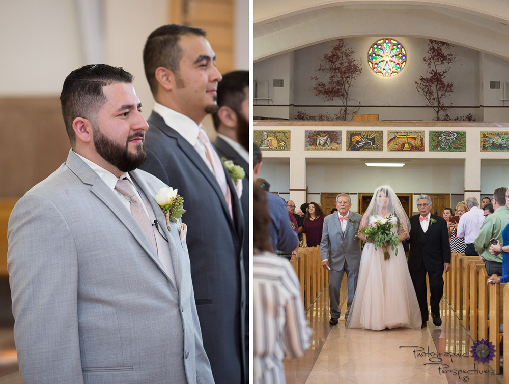 St.Therese Catholic Church | Albuquerque Wedding Photographers | Catholic Wedding | Photographic Perspectives | New Mexico Bride