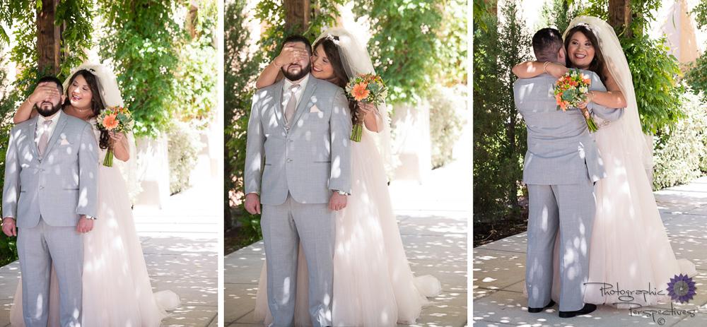 Hotel Albuquerque Wedding | First Look | Photographic Perspectives | Albuquerque Wedding Photographers