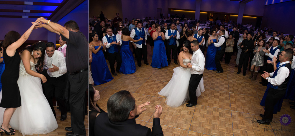 The Albuquerque Convention Center lets you customize the color of your lights for your wedding reception.