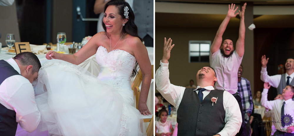 Isleta Resort Wedding | Wedding Reception | Garter Toss | New Mexico Bride | Albuquerque Wedding Photographers | Photographic Perspectives