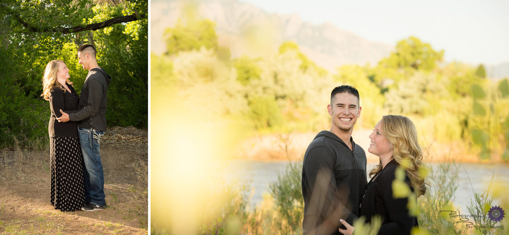 ABQ Photographers | Engagement Session | Rio Grande River Engagement | Photographic Perspectives | Albuquerque Wedding Photographers | Albuquerque Engagement Photographers