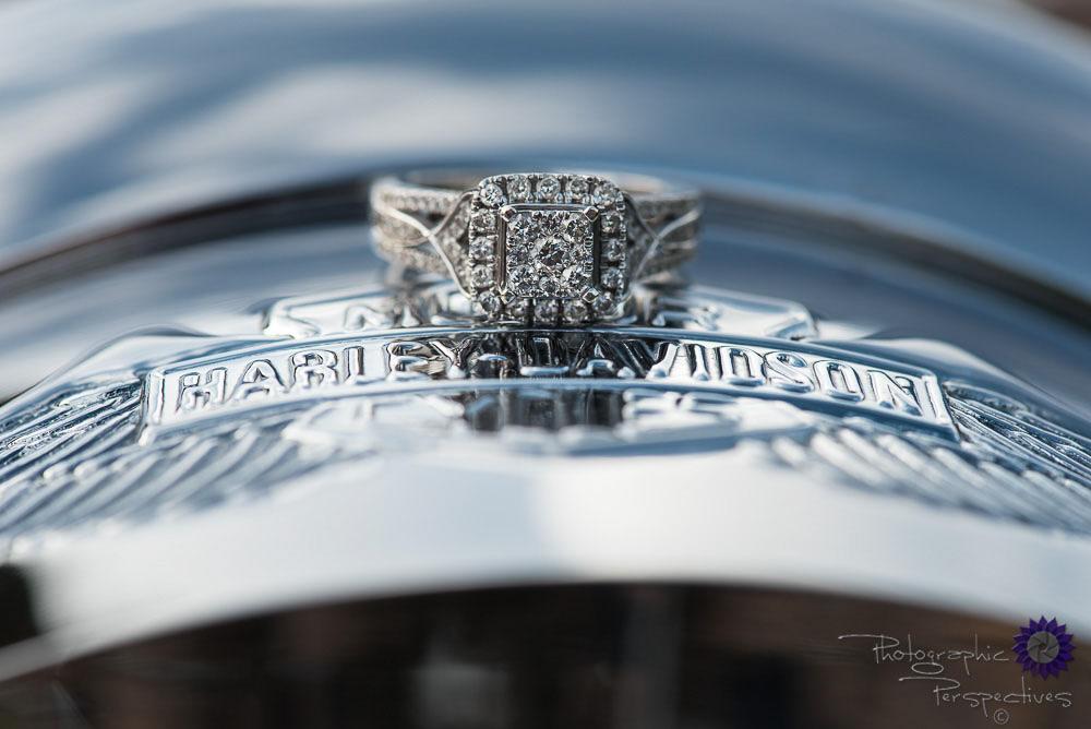 Harley Davidson Engagement Session Jemez Mountains Engagement Ring