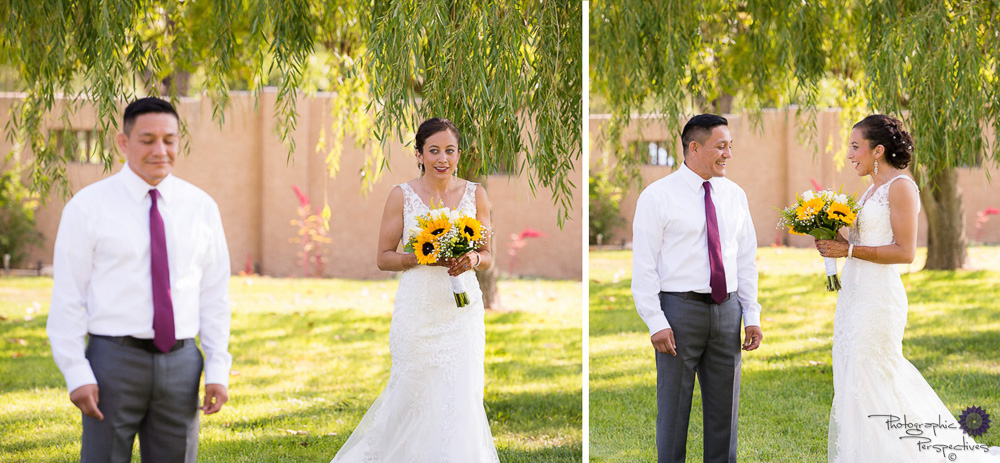 Albuquerque Wedding Photographers | First Look | Photographic Perspectives | New Mexico Bride | New Mexico Wedding Photography