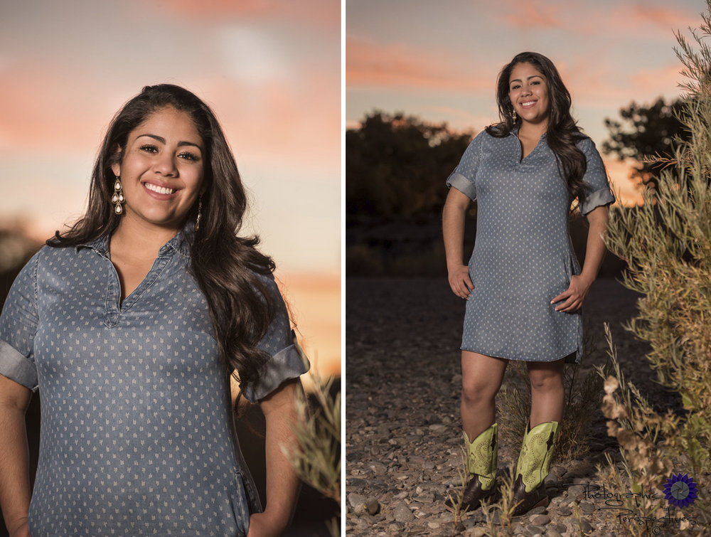 Photographic Perspectives | Albuquerque Photographers| Fall Senior Portrait | Rio Grande River | Bosque Portraits
