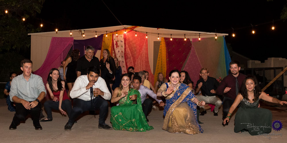 Line Dancing | Indian Wedding | Photographic Perspectives | New Mexico Wedding Photography | Indian Wedding Photography New Mexico | Albuquerque Wedding Photographers | Reception Atmosphere