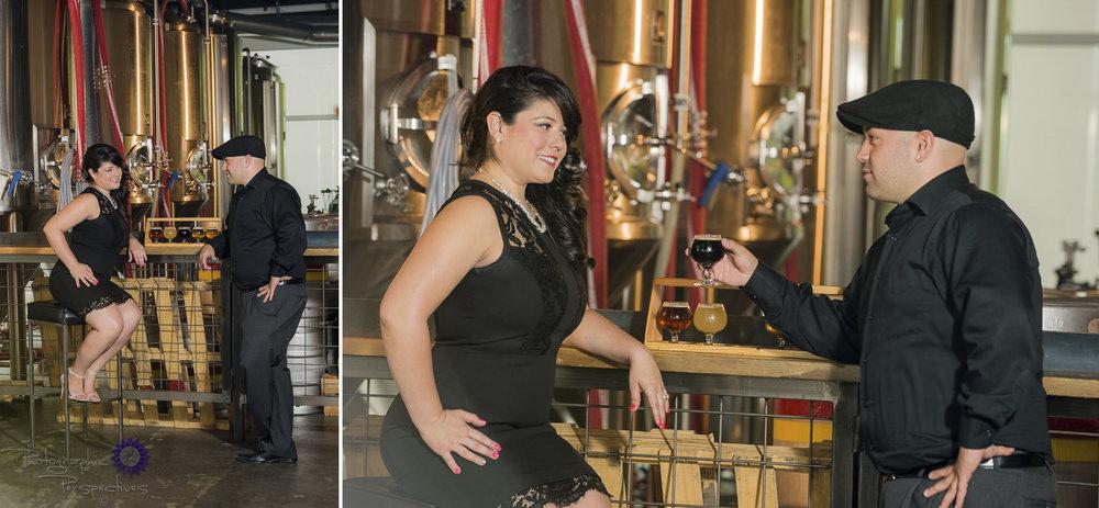 Craft Brew | Beer Flight | Ponderosa Brewing Company | Albuquerque Engagement Photographers | Photographic Perspectives