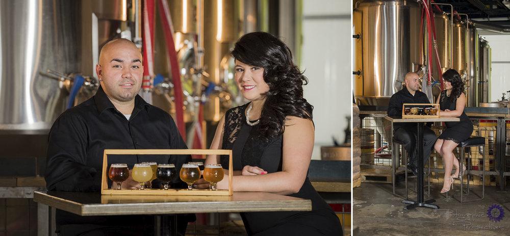 Albuquerque Engagement Photographers | Photographic Perspectives| Craft Brew | Beer Flight | Ponderosa Brewing Company
