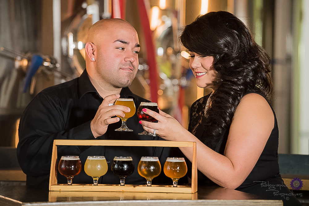 Albuquerque Engagement Photographers | Photographic Perspectives | Engagement Session | Beer Flight | Craft Brew | Local ABQ | Craft Brew Scene