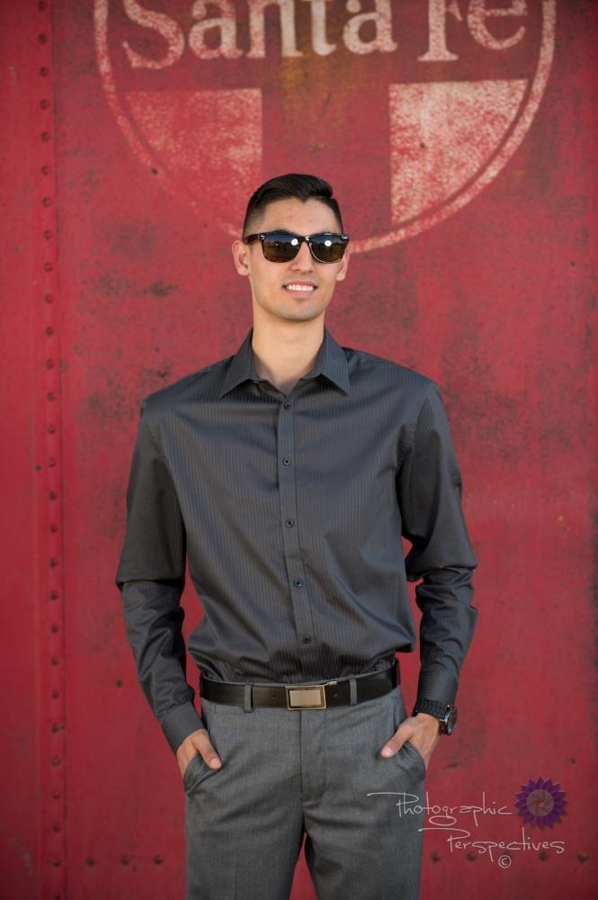 Senior Photograph by Train, Box Car Train, Senior Photo, Santa F