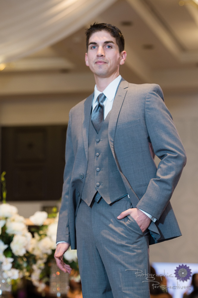 Stephen Geoffrey Mid Grey 3 Piece Suit with Silver Tie