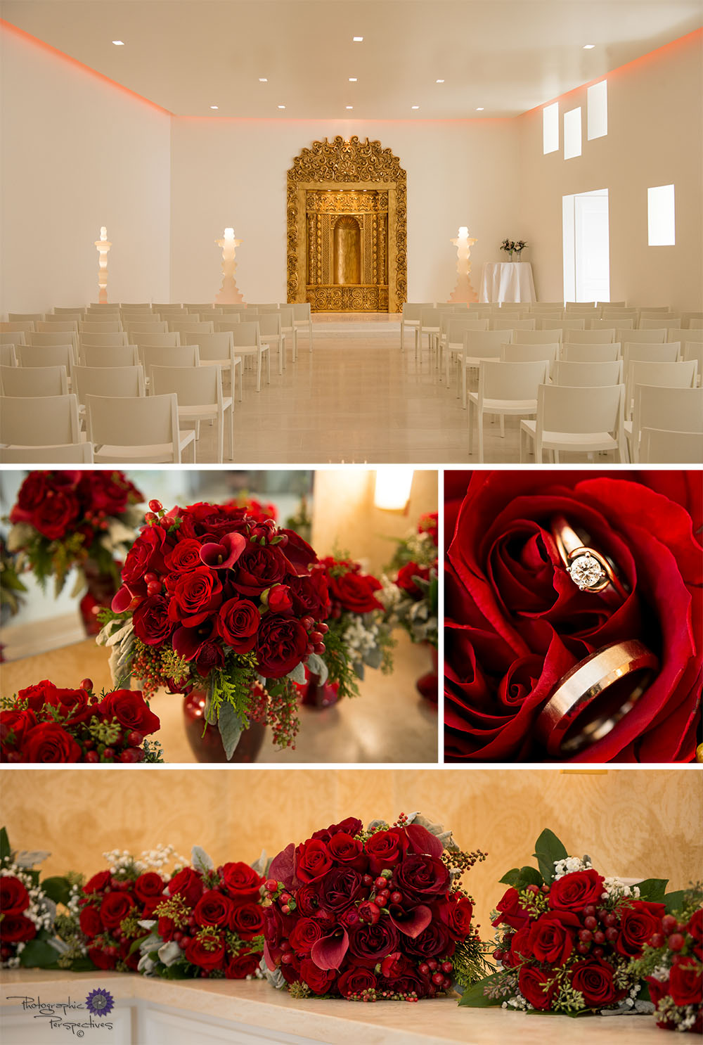 Red Rose wedding at the Eldorado Hotel in Santa Fe, New Mexico.