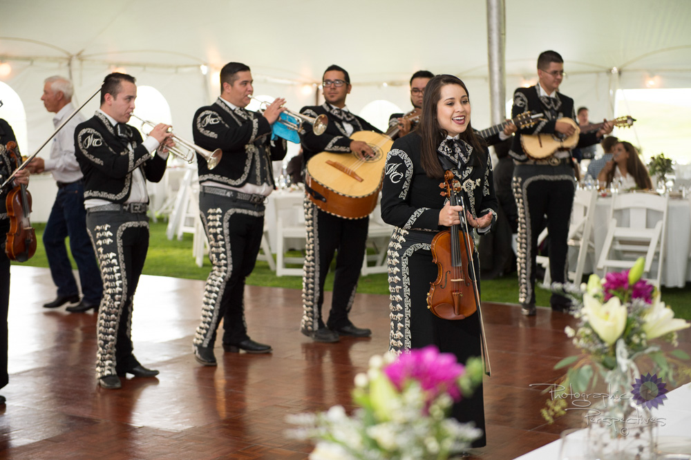 complete wedding, camo wedding, outdoor wedding, mariachi band,