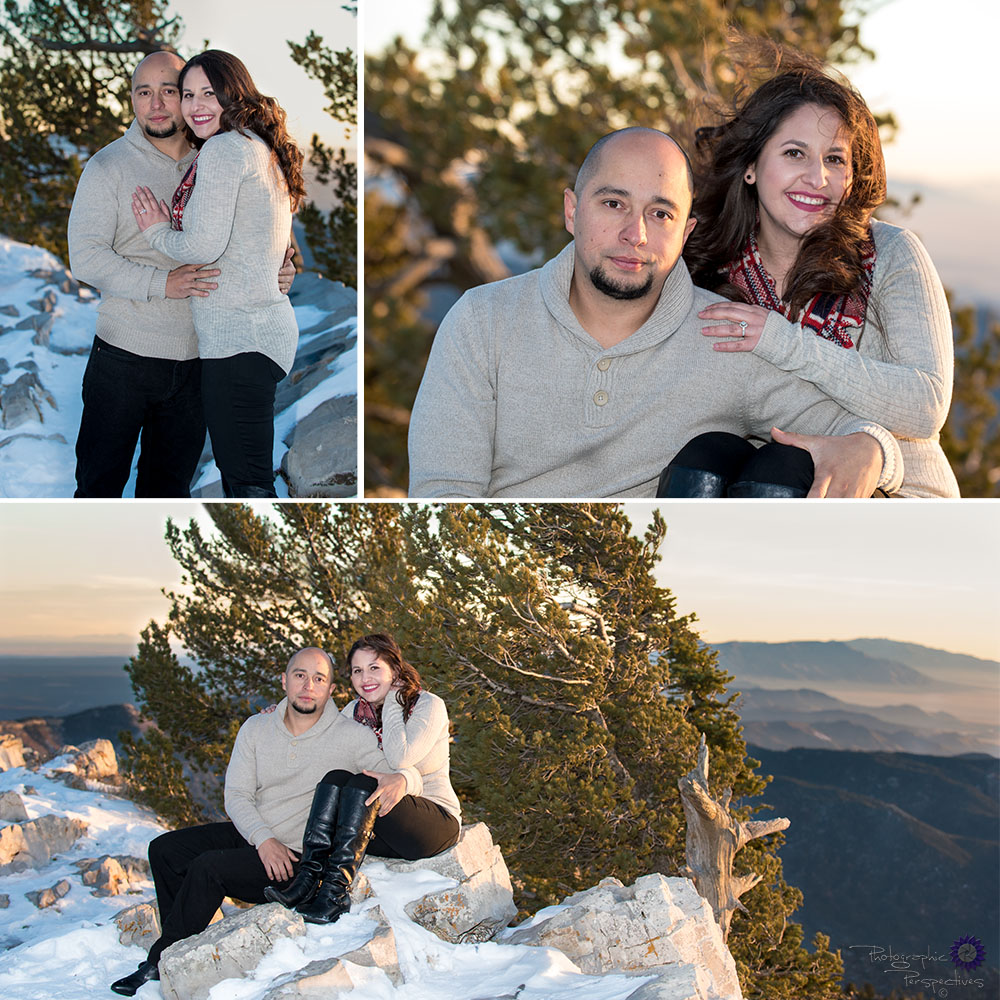 Sandia Mountains | Snow | Winter Engagement Photo Shoot | Albuquerque Photographers