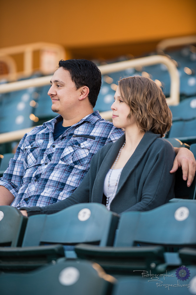 Isotopes Baseball Park Engagement Session