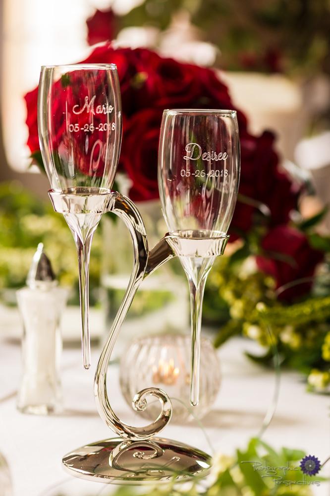 Custom Wedding Champagne Glasses