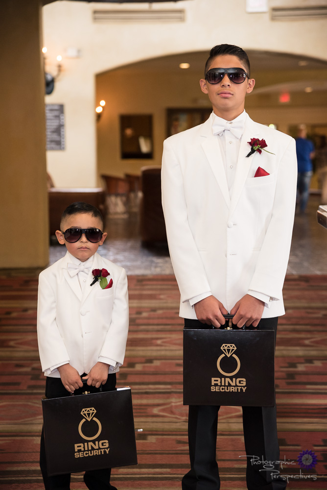 Hotel Albuquerque Wedding | Ring Bearers | Ring Security