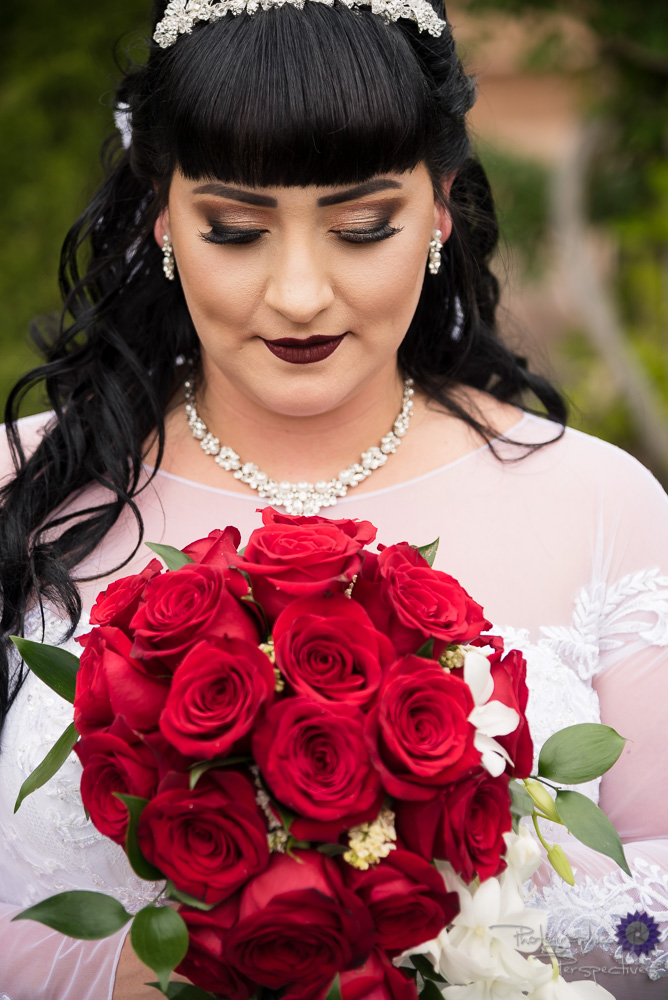 Red Rose bouquet | Bridal Makeup | Bridal Hair | Romantic deep red Lipstick