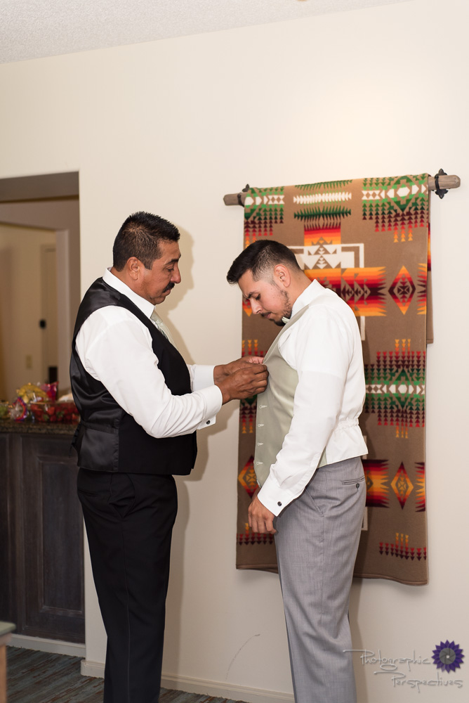 Hyatt Regency Tamaya Wedding | Groom Prep