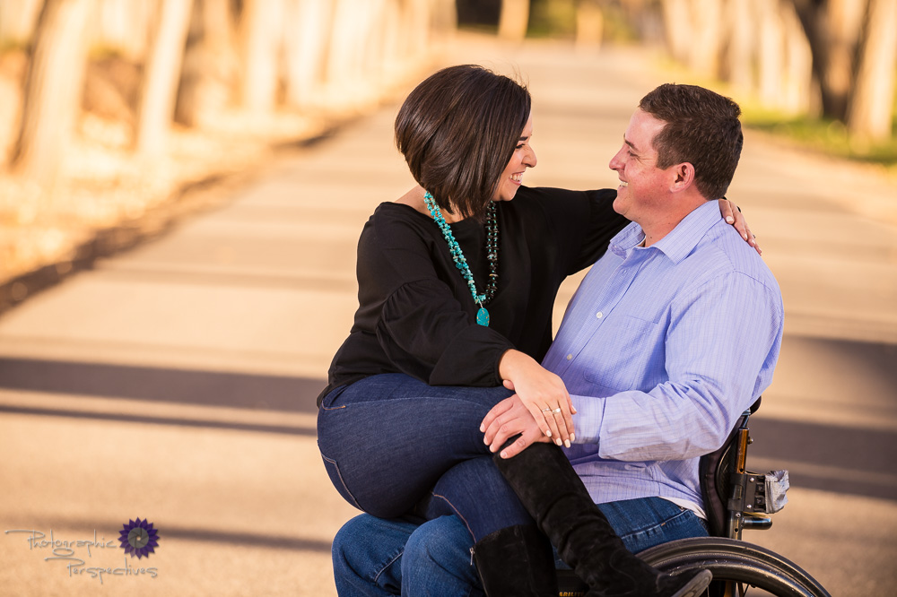 New Mexico Photographer | Engagement | Wheel Chair Friendly studio