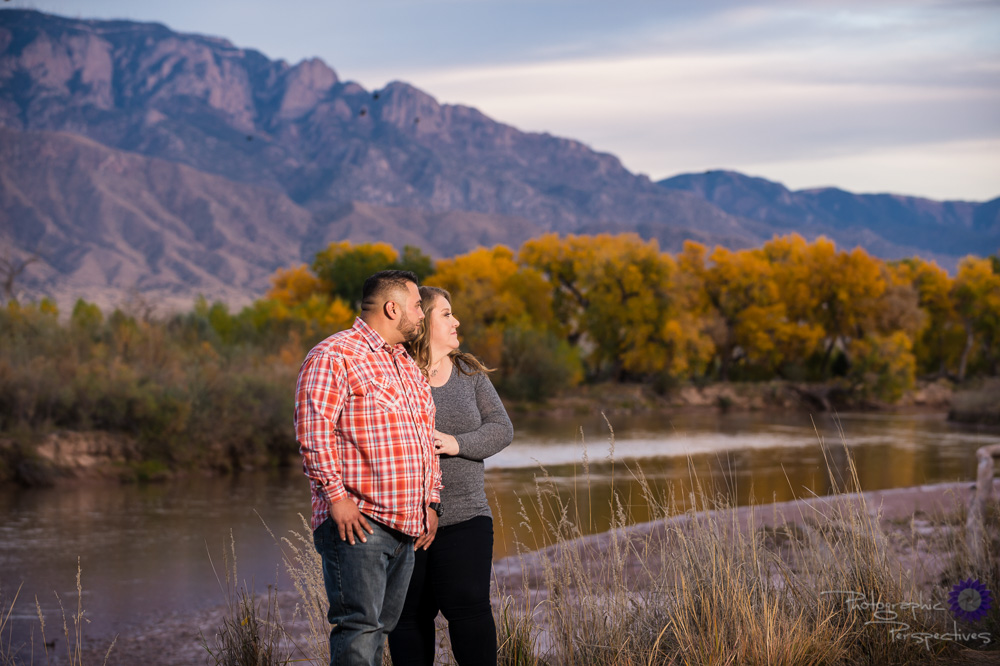 Fall New Mexico Colors | Sandia Mountians | Fall Engagement photography