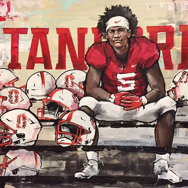 Had the chance to do pieces of original art for, at that time, Stanford recruits...Happy to report they both signed. Congrats to these two new members of the Stanford family and best of luck. Look forward to doing more artwork for a great program like Stanford, and huge thanks to @g_wolfey for the opportunity #StanfordCardinals