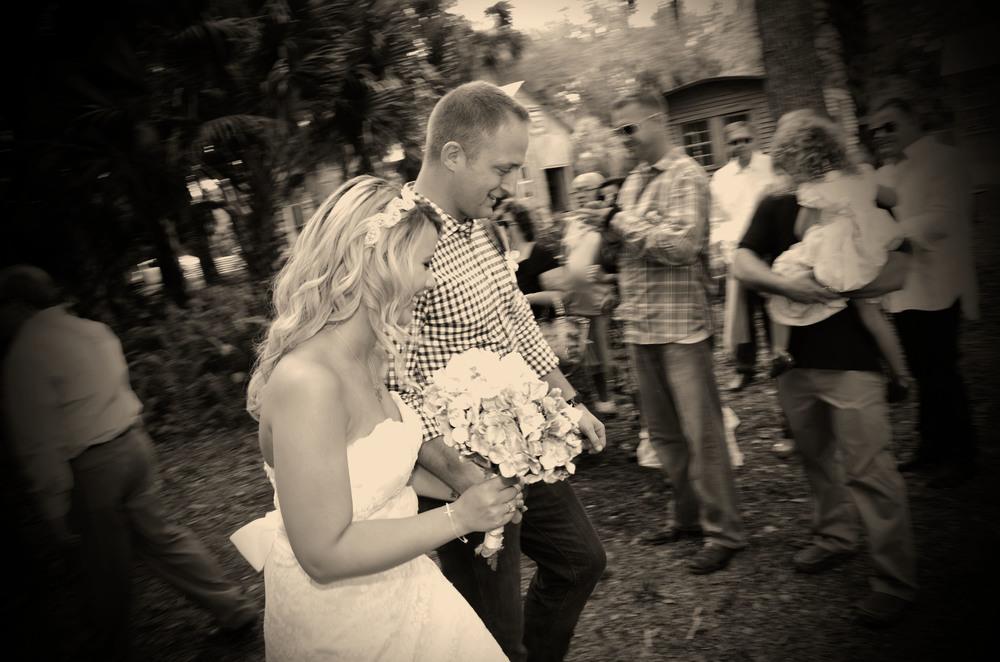 Jessica and Joe Wedding ceremony at Koreshan Park, Estero