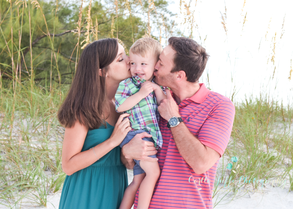Beach Family Portraits in Bradenton Beach - Carlla Juffo Photography