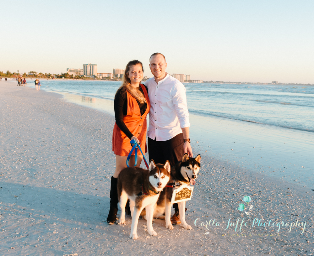 Engagement photo session on Lido Beach