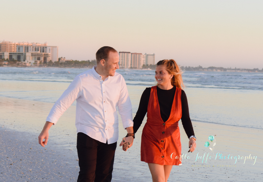 Lido Beach surprise proposal - Engagement Photography