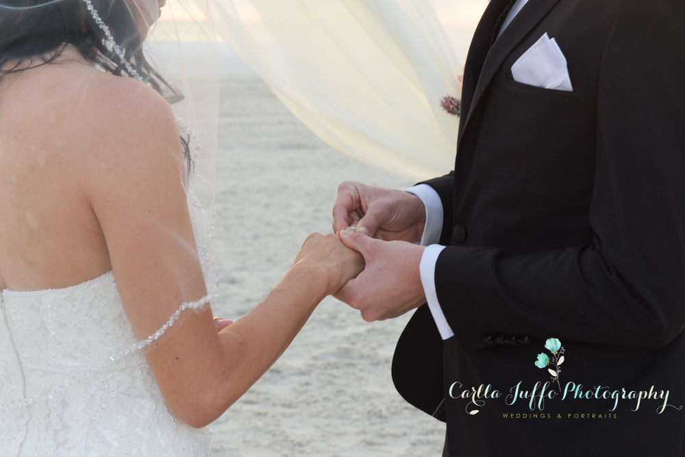 Wedding ceremony on Siesta key Beach