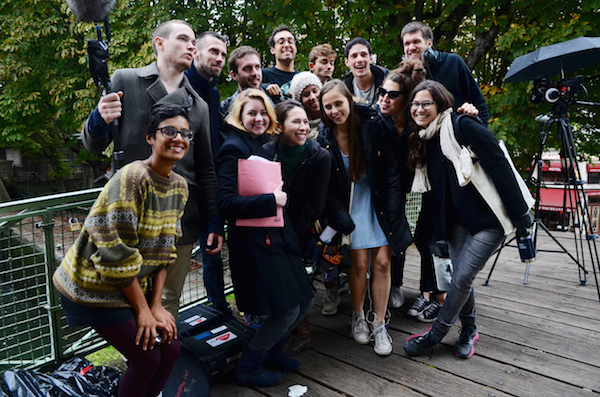 Cast and Crew photo on set of Margot in Paris, France. Image by:Photo cred:Polina Polevych
